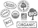 欧米各国の有機食品表示ロゴ。このロゴのついたワインなら安心(?)。